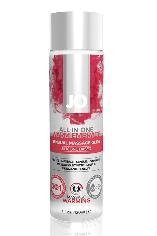 Универсальная гель-смазка на силиконовой основе с согревающим эффектом JO All-In-One Massage Glide