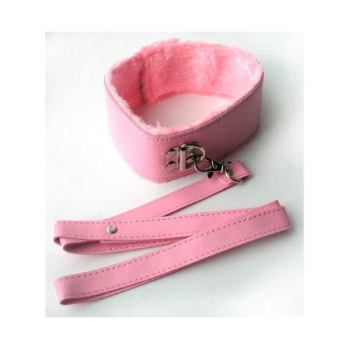 Розовый ошейник с поводком Notabu MLF-90093-6