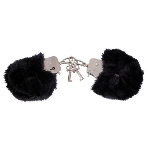 Меховые наручники Love Cuffs Черный