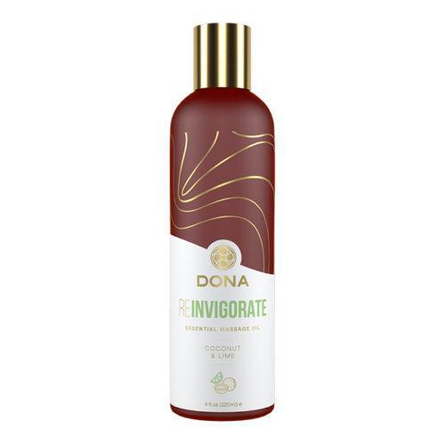 Массажное масло Dona с ароматом кокоса и лайма - 120 мл.