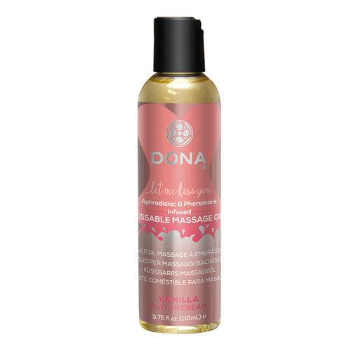 Вкусовое массажное масло DONA Kissable Massage Oil Vanilla Buttercream 110 мл